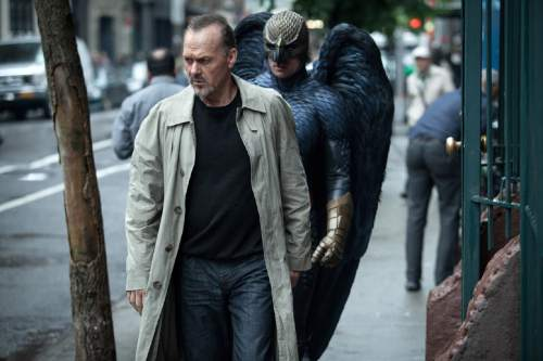 """In this image released by Fox Searchlight Pictures, Michael Keaton portrays Riggan in a scene from """"Birdman."""" (AP Photo/Fox Searchlight, Atsushi Nishijima)"""