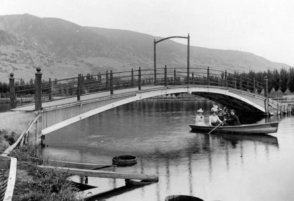 Courtesy  |  Utah State Historical Society  The lake at Lagoon Amusement Park in Farmington. Date unknown.