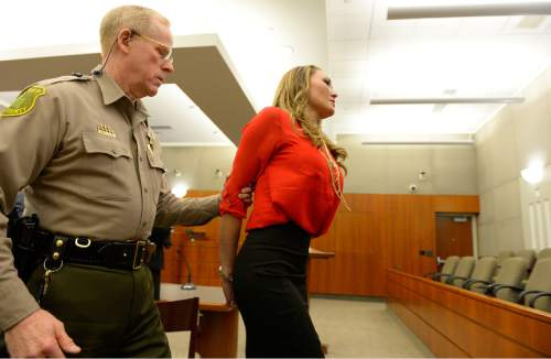 Leah Hogsten     The Salt Lake Tribune Brianne Altice, 35, was taken into custody and ordered to stand trial in 2nd District Court after Judge John R. Morris refused to set bail, Thursday, January 15, 2015. Altice,  is facing a total of 14 felony charges for allegedly having sexual relationships with three male students: five counts of first-degree felony rape, two counts of first-degree felony forcible sodomy, three counts of second-degree felony forcible sexual abuse, along with three counts of unlawful sexual activity with a minor and one count of dealing harmful material to a minor, all third-degree felonies.