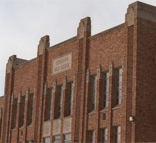 Old Bingham High School.     Miller/photo