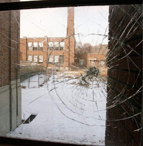 A view to the north from a hallway in the main old Bingham High School.     Miller/photo
