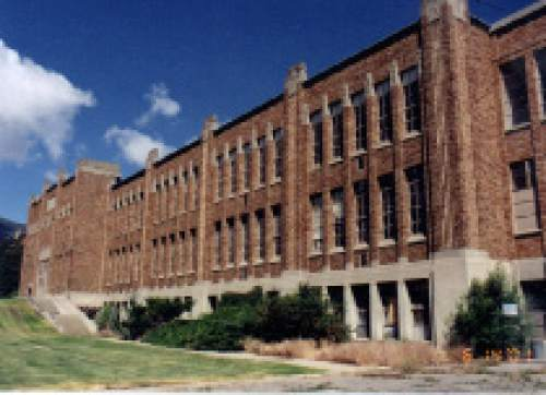 Scott Crump  |  Courtesy   Photos of the old Bingham High School building in Copperton.