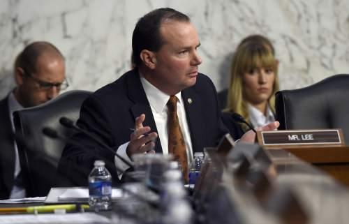 |  The Associated Press U.S. Senator Mike Lee (R-Utah)