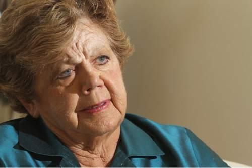 Rick Egan   |  The Salt Lake Tribune                                                                                                                                                                                                                                                   Olene Walker gives her thoughts on her political career as a legislator, lt. governor and governor, at her home in Bloomington, Utah, Thursday, July 1, 2010