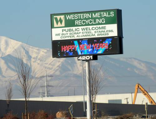 Salt Lake Tribune staff photo     The Salt Lake Tribune The Utah Department of Environmental Quality cited Western Metals Recycling at 4221 W. 700 S. in Salt Lake City for allowing motor oil to drip out of scrap vehicles onto the ground and other violations.