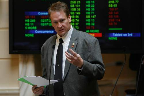 Chris Detrick |  Tribune file photo Sen. Mark Madsen, R-Saratoga Springs, has proposed establishing a network of marijuana greenhouses and dispensaries in Utah to be used for medicicinal purposes. The bill is scheduled to get its first hearing Thursday.