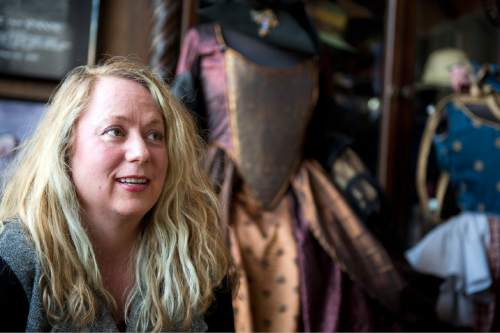 Lennie Mahler  |  The Salt Lake Tribune  Jen McGrew, owner/proprietor of McGrew Studios, photographed in her costume store on Pierpont Avenue, Friday, Feb. 27, 2015. The Eccles Browning Warehouse, a long-time home to small artisan businesses, was sold in January to an out-of-state residential developer. McGrew is one of many tenants likely to be displaced by the change in ownership.