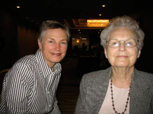 Tribune file photo    Annette Cumming and her mother, Helen Poulson, at a dinner theater benefit for the Planned Parenthood Association of Utah in 2007.