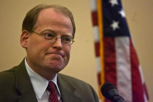 Chris Detrick   The Salt Lake Tribune  Rep. Kraig Powell, R-Heber City, speaks at the Utah State Capitol