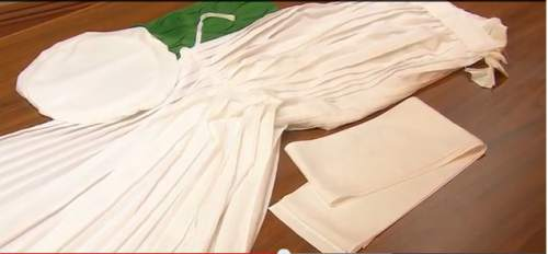 "(Screen shot) The LDS Church has posted a video and photos explaining these ""robes of the holy priesthood,"" worn by faithful members inside Mormon temples."