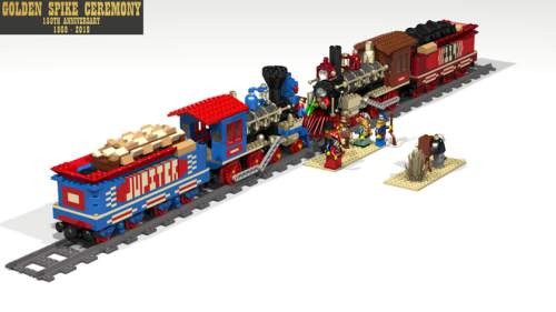 Courtesy of Jack Little Jack Little has designed a 2,000-piece Lego set to model the Golden Spike ceremony at Promontory Point, Utah.