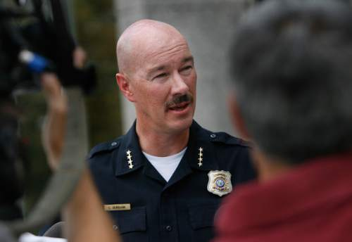 Scott Sommerdorf  |  Tribune file photo              Salt Lake Police Chief Chris Burbank is supporting President Barack Obama's executive orders on immigration. He also has joined a friend-of-the-court brief countering the lawsuit against the orders filed by Utah Attorney General Sean Reyes and 24 other, mostly Republican states.