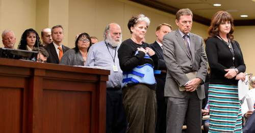 Trent Nelson  |  The Salt Lake Tribune Citizens line up to speak about a bill, SB164, which later failed to pass during a meeting of the House Business and Labor Committee at the State Capitol Building in Salt Lake City, Wednesday March 4, 2015. SB164 would have enacted Healthy Utah, the Governor's plan for expanding Medicaid to cover those in the so-called coverage gap and even more low-income Utahns.
