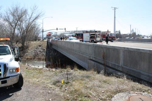 (Courtesy Spanish Fork Police Department) A Springville woman died, and her 18-month-old daughter was in critical condition, after the woman's car crashed into Spanish Fork River on Saturday, March 7, 2015.