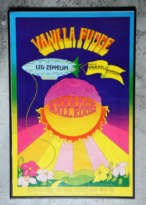 Courtesy  |  Ken Sanders Rare Books  Poster for Vanilla Fudge and Led Zeppelin concert at the Terrace Ballroom that closed in 1981. Poster courtesy of Ken Sanders Rare Books.