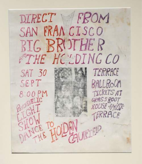 Courtesy  |  Ken Sanders Rare Books  Poster for Big Brother and the Holding Co. featuring Janice Joplin at the Terrace Ballroom that closed in 1981. Poster courtesy of Ken Sanders Rare Books.