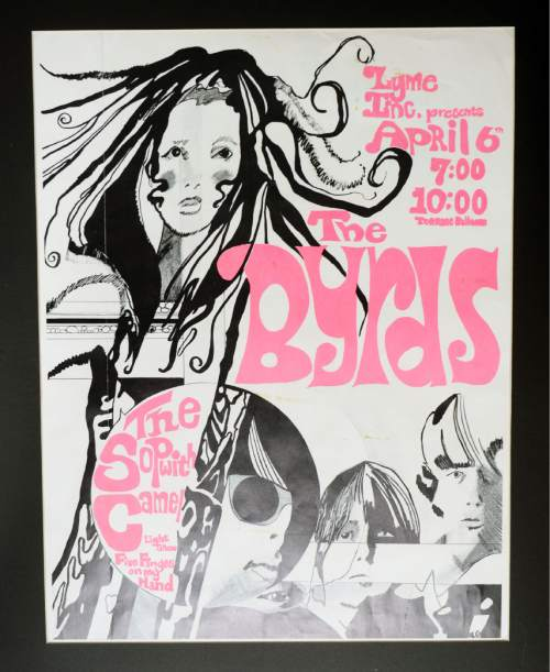 Courtesy  |  Ken Sanders Rare Books  Poster for The Byrds concert at the Terrace Ballroom that closed in 1981. Poster courtesy of Ken Sanders Rare Books.