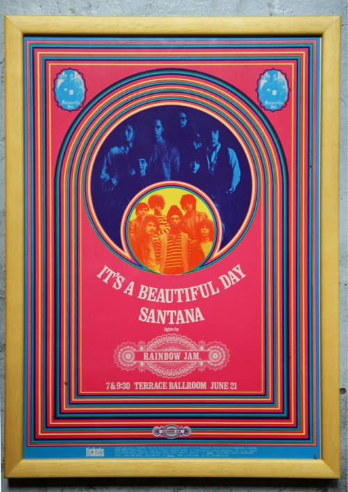 Courtesy  |  Ken Sanders Rare Books  Poster for Santana concert at the Terrace Ballroom that closed in 1981. Poster courtesy of Ken Sanders Rare Books.