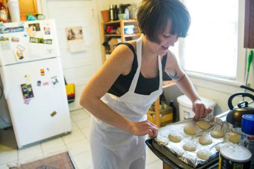 Chris Detrick  |   Tribune file photo Emily Park, then a pastry chef at Caffe Niche in Salt Lake City, made German anisplatzchen at her Salt Lake City home in 2014. A new report says it will take 87 years for Utah's working women to see the state's gender pay gap close.