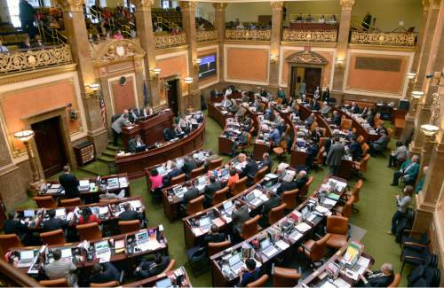 Al Hartmann  |  The Salt Lake Tribune  Members of the Utah House of Representatives meet for the final day of the 2015 legislative session in Salt Lake City Thursday March 12.
