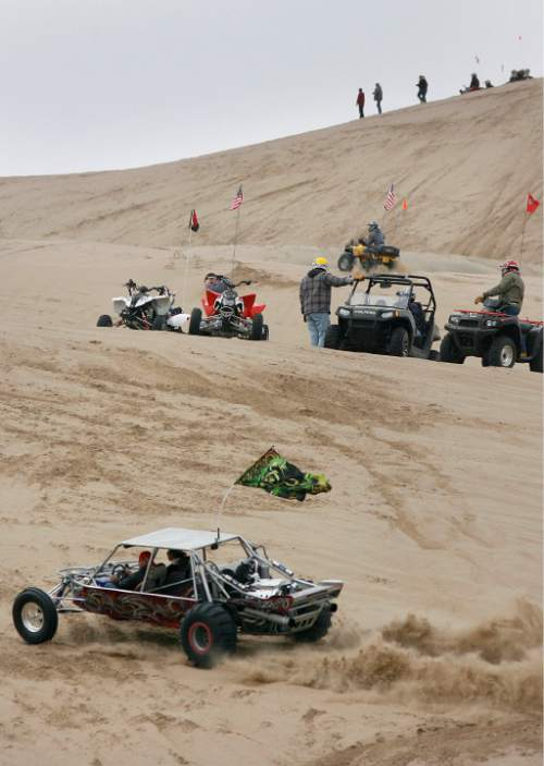 Scott Sommerdorf  |  Salt Lake Tribune LITTLE SAHARA Four- and two-wheel enthusiasts, dune buggies and more kick off the spring season with motorized recreation and camping at Little Sahara sand dunes. In the 2015 legislative session, Utah lawmakers dedicated more money to their fight over federally-managed public lands, including Little Sahara.