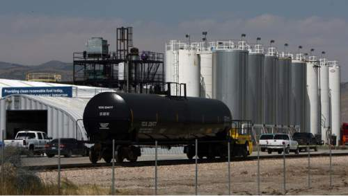 Leah Hogsten     Tribune file photo A rail line outside the Washakie Renewable Energy facility in 2011.
