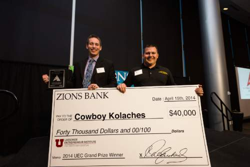 Courtesy photo Cowboy Kolaches, a Wyoming business created by Brigham Young University students, won last year's prize. The founders devised a machine to mass-produce savory donuts with central European origins that come jalapeno, cheese and sausage, among other fillings.