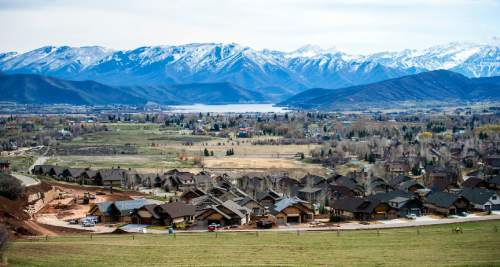 Chris Detrick     The Salt Lake Tribune A general view of Midway and the Heber Valley photogrpahed Wednesday March 25, 2015.