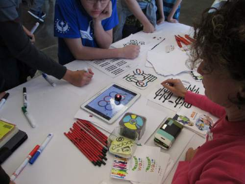Carrie Rogers-Whitehead  |  Courtesy  The Salt Lake County Library Services hosted a Hackathon event Wednesday March 26, 2015, to excite children about computer science and engineering.