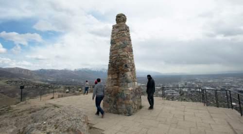Steve Griffin  |  The Salt Lake Tribune Ensign Peak in Salt Lake City.