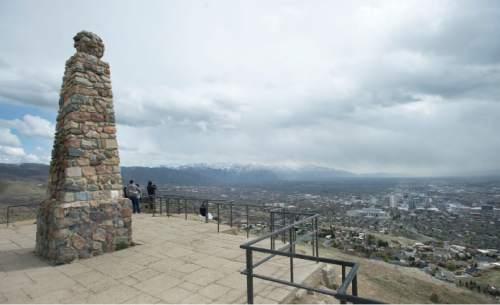 Steve Griffin  |  The Salt Lake Tribune  Ensign Peak in Salt Lake City, Monday, March 23, 2015.