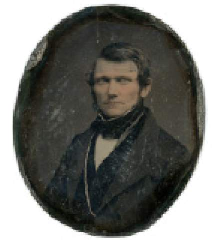 Courtesy Anthony's Antiques and Fine Art Wilford Woodruff is seen in this rare photo from 1844.