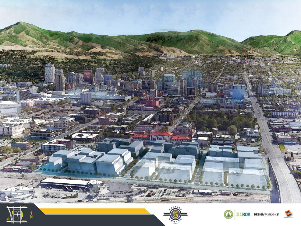 Courtesy  |  Salt Lake City Redevelopment Agency  Station Center Aerial