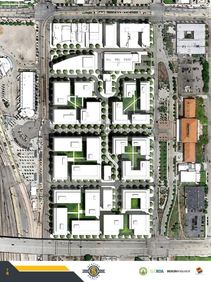 Courtesy  |  Salt Lake City Redevelopment Agency  Station Center site plan