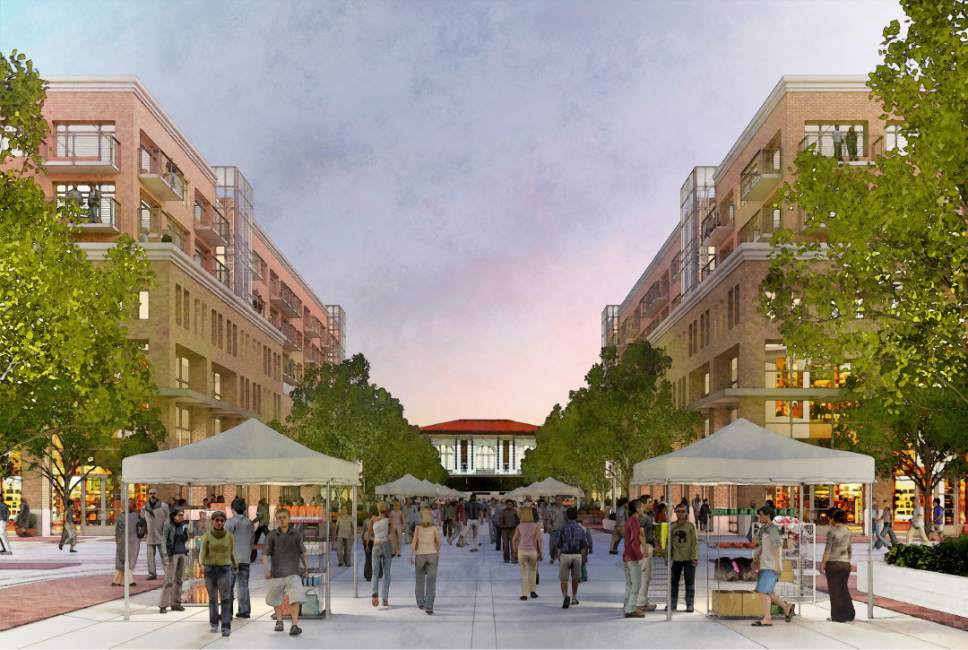 Artist's rendering of the proposed Station Center development.