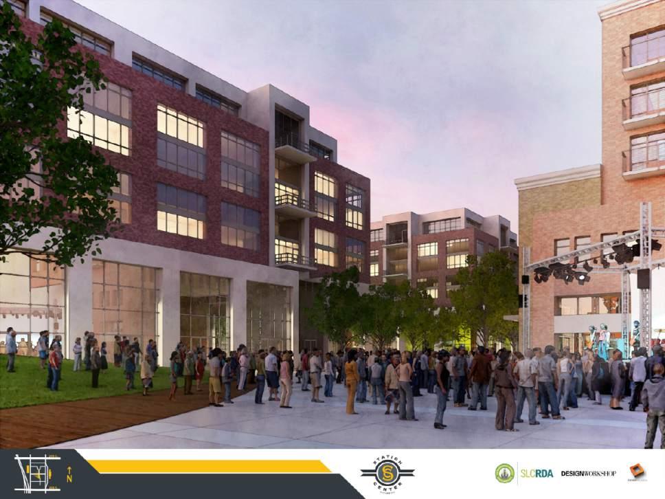 Courtesy  |  Salt Lake City Redevelopment Agency  Station Center plaza