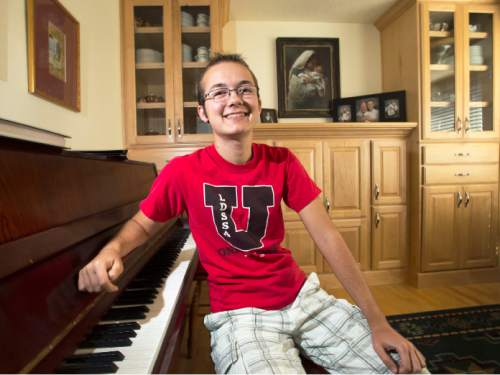 Steve Griffin  |  The Salt Lake Tribune Grayson Moore, who is transgender, in his Syracuse, Utah home.