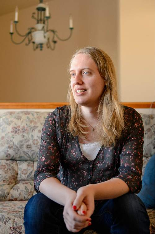 Trent Nelson  |  The Salt Lake Tribune Annabel Jensen, a transgender Mormon, was photographed at her home in Springville, Tuesday March 10, 2015.