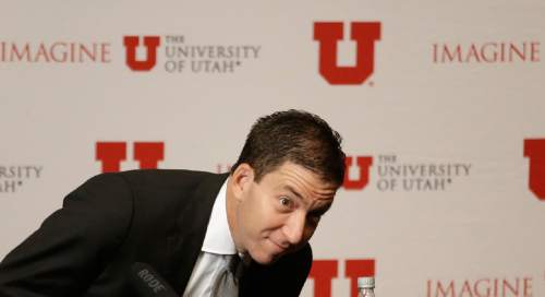 Lawyer and journalist Glenn Greenwald takes his seat before speaking with members of the media Tuesday, April 7, 2015, in Salt Lake City. Greenwald, the man who used top-secret documents leaked by Edward Snowden to write about global surveillance programs for a British newspaper, will speak with students at the University of Utah Tuesday evening.AP Photo/Rick Bowmer)
