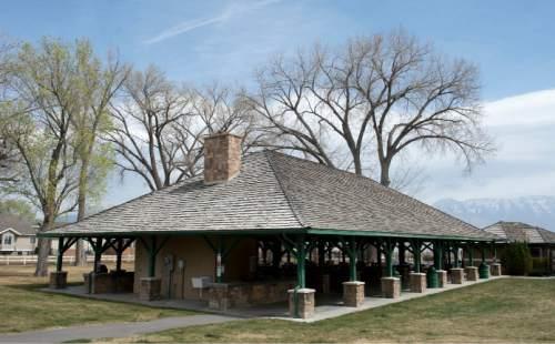 Courtesy  | Lehi city  Newly renovated picnic and gazebo at Saratoga Springs, Utah Monday, April, 06, 2015.