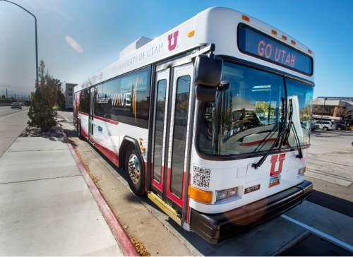 Steve Griffin  |  Tribune file photo UTA buses have a better than 90 percent on-time rate, according to agency data. That represents a huge improvement in recent years and officials credit it to technology and planning.