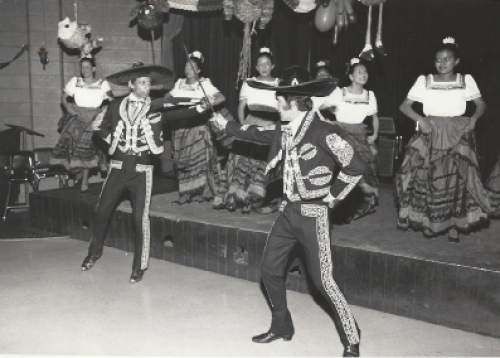 Courtesy     Catholic Diocese of Salt Lake City  Dancers celebrate the birthday of La Morena Cafe at the Guadalupe Center.