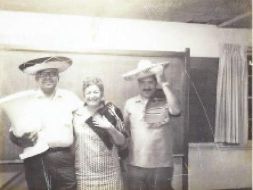 Courtesy     Catholic Diocese of Salt Lake City  People don sombreros at the birthday party of La Morena Cafe at the Guadalupe Center.