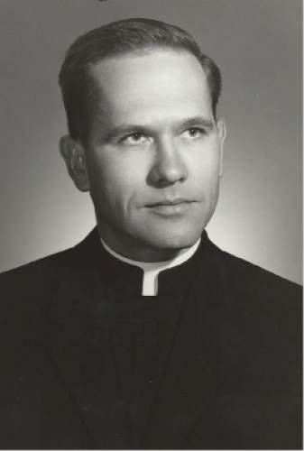 Courtesy  |  Catholic Diocese of Salt Lake City  Father Gerald Merrill, founder of La Morena Cafe and priest of the Guadalupe Perish in the 1960s. Soon after the cafe was founded, Merrill turned its management over to Suzanne Weiss. Merrill eventually married and became a pastor at a Episcopalian church.