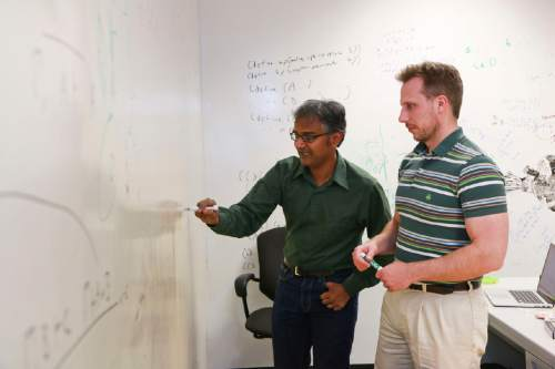 Courtesy  |  University of Utah College of Engineering  Suresh Venkatasubramanian, left, and Matt Might, both associate professors of computer science at the University of Utah, have received a $3 million government grant to produce software that can sniff out the next generation of computer vulnerabilities. These attacks, called algorithmic vulnerabilities, are harder to detect and can do a great amount of damage on computer systems.