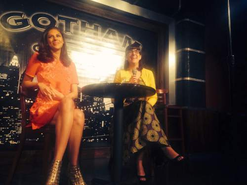 Thomas Burr  |  The Salt Lake Tribune MSNBC's Abby Huntsman and Ordain Women founder Kate Kelly talk on stage at the Gotham Comedy Club about Kelly's excommunication from the LDS Church as part of an offshoot program of the Tribeca Film Festival.