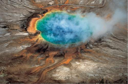 "|  ""Windows into the Earth,"" Robert B. Smith and Lee J. Siegel  The gorgeous colors of Yellowstone National Park's Grand Prismatic hot spring are among the park's myriad hydrothermal features created by the fact that Yellowstone is a supervolcano – the largest type of volcano on Earth. A new University of Utah study reports discovery of a huge magma reservoir beneath Yellowstone's previously known magma chamber. That doesn't increase the risk of an eruption, but means scientists are getting a better view of Yellowstone's volcanic plumbing system."