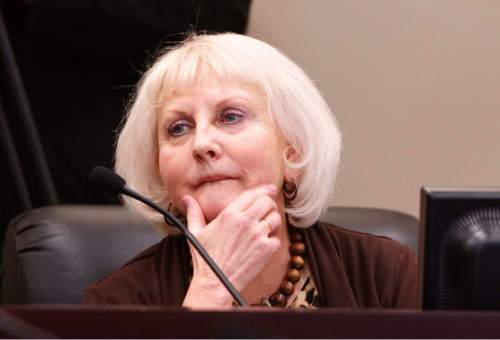 Leah Hogsten  |  The Salt Lake Tribune On Tuesday, Sen. Karen Mayne, D, West Valley City (shown here in an archive photos from 2013) blasted the DABC for mistreating its employees.