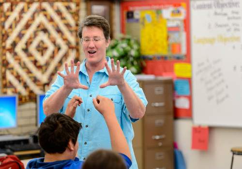 Trent Nelson     The Salt Lake Tribune Bonneville Jr. High teacher Dr Rose Jacklin was surprised Thursday with the news that she is one of 11 Utah educators selected for this year's Huntsman Awards for Excellence in Education. Thursday April 30, 2015.