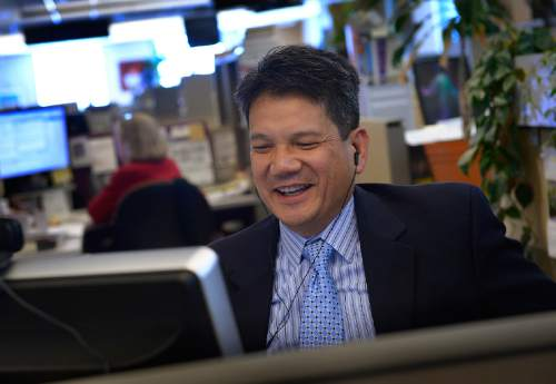 Scott Sommerdorf      The Salt Lake Tribune Sal Petilos Executive Director of the Utah Department of Alcoholic Beverage Control came to the Salt Lake Tribune newsroom to appear on Trib Talk, Wednesday, May 28, 2014.